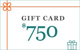 750 eGift Cards